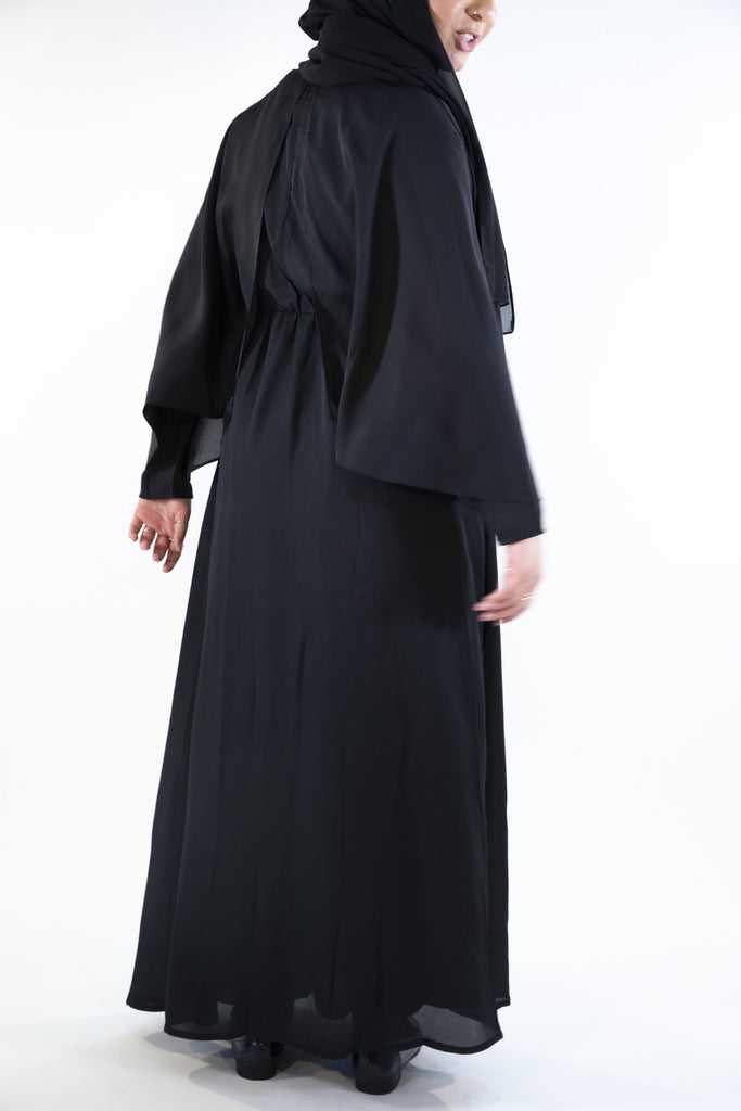 Black - Layered Dress - Arman Hussain Studio