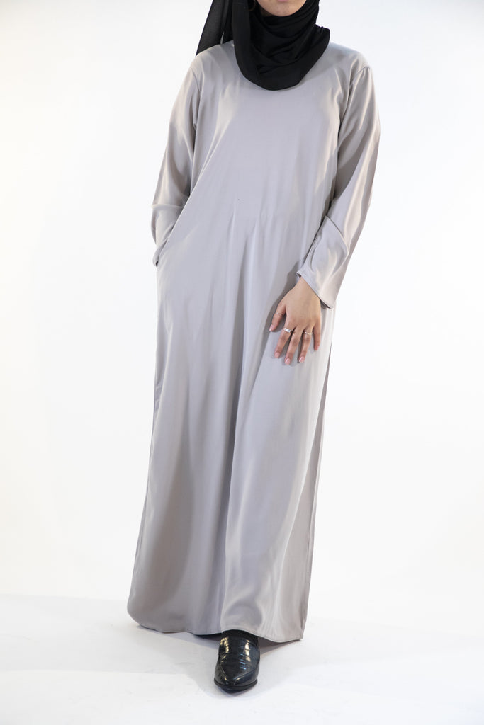 Light Grey - Closed Abaya