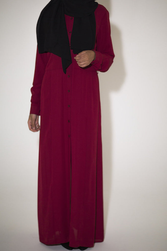 Red Maxi Shirt - Arman Hussain Studio