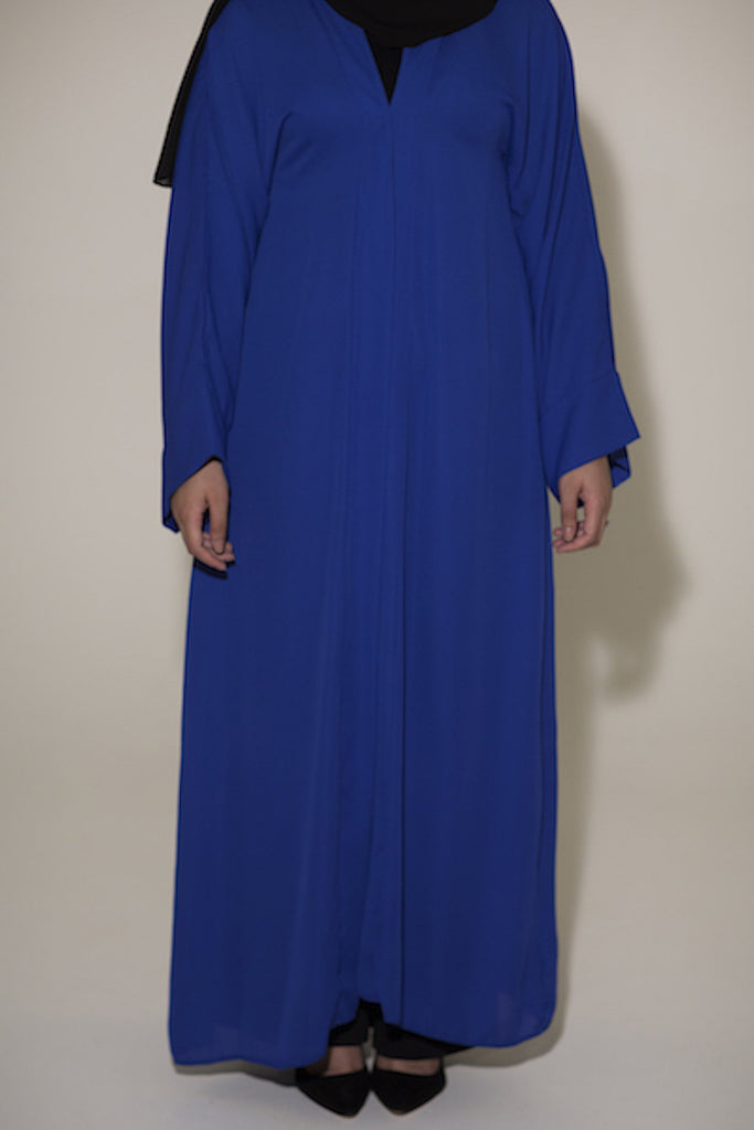 Royal Blue Open Abaya - Arman Hussain Studio