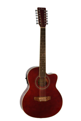 De Rosa 12 String Cutaway Acoustic Electric Thin Body Guitar