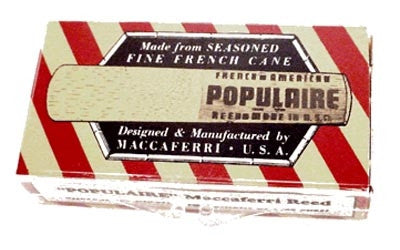 Populaire B Flat Clarinet Reed
