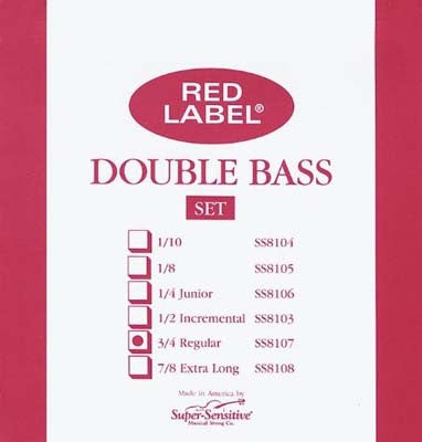 Red Label Upright Bass Strings Set