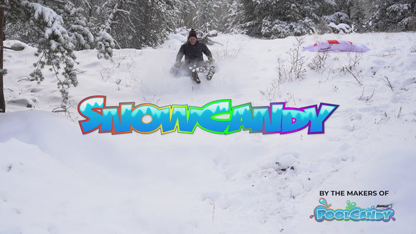 "SNOWCANDY Snow Tube 48"" Blue Pro Snow Tube Edition"