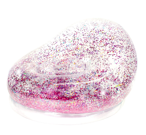 Air Candy Pink Glitter Inflatable Chair - PoolCandy
