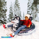 Husky Snow Tube - Ride down the hill with your Husky Friend - PoolCandy