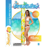 "PoolCandy Giant Super Noodle Pool Float 72"", Pineapples - PoolCandy"