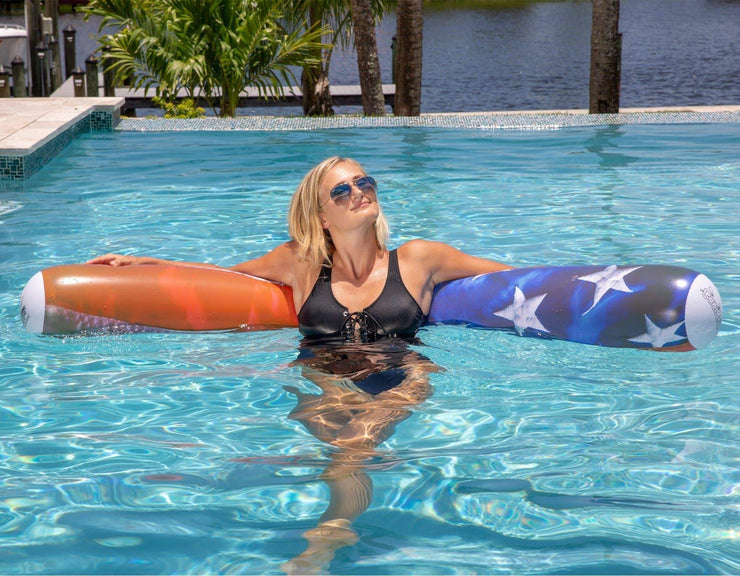 "PoolCandy Giant Super Noodle Pool Float 72"", Stars & Stripes - PoolCandy"