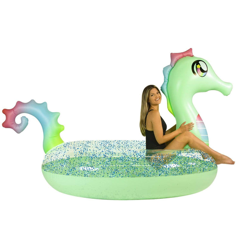 PoolCandy Animal Glitter PoolCandy Gigantic 2 to 3 person Glitter Seahorse
