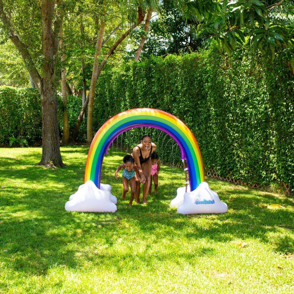 PoolCandy Gigantic Outdoor Water Sprinkler, Rainbow Style - PoolCandy
