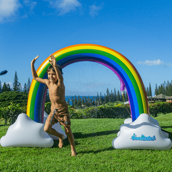 Poolcandy Sprinkler Gigantic Rainbow PoolCandy Gigantic Outdoor Water Sprinkler, Rainbow Style