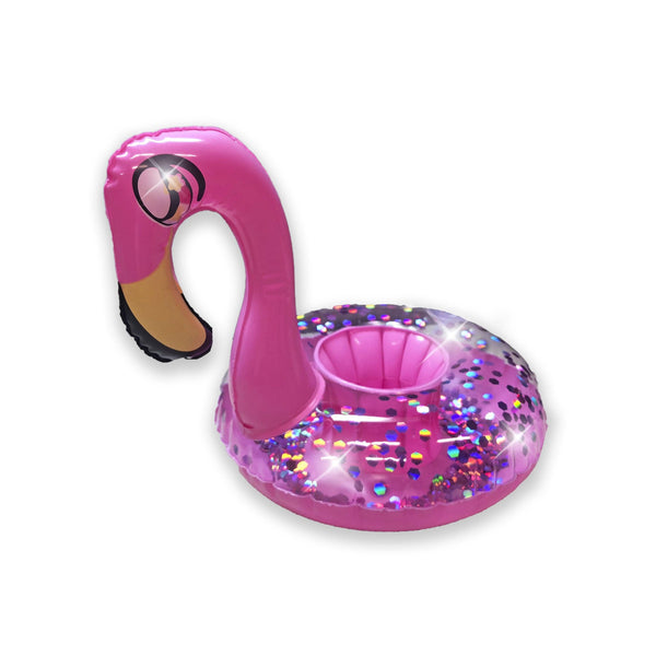 PoolCandy Glitter Drink Pool Float, Set of 2, Glitter Flamingo - PoolCandy