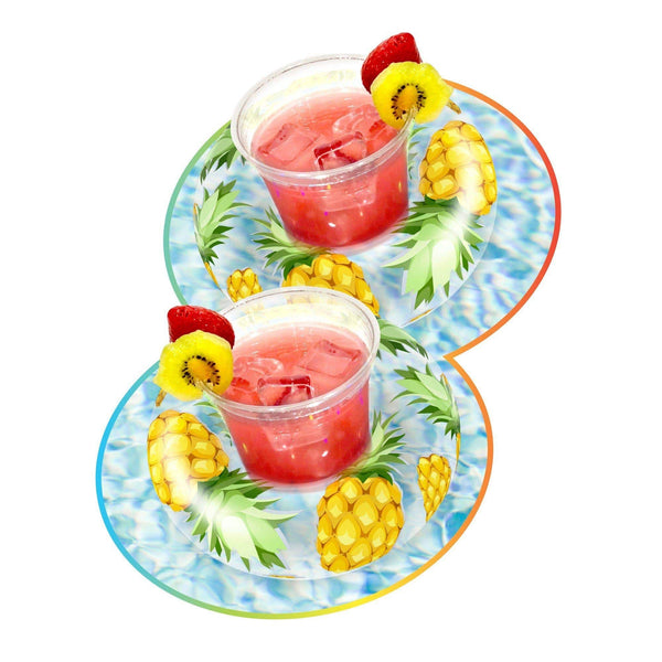 PoolCandy Glitter Drink Pool Float, Set of 2, Tropical Fruit - PoolCandy