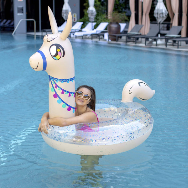 "PoolCandy Jumbo 48"" Animal Pool Tube, Llama - PoolCandy"