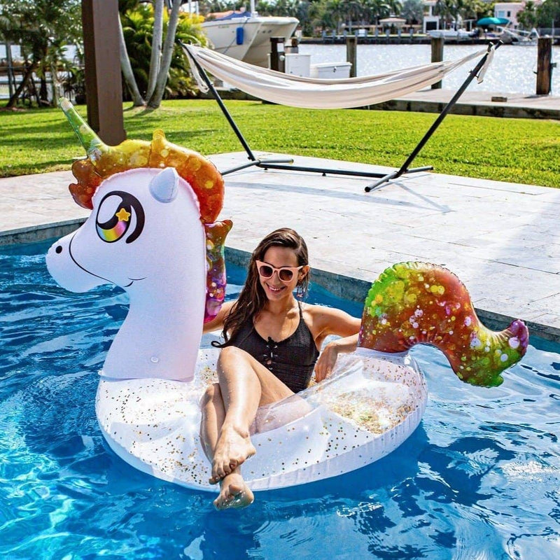 "PoolCandy Jumbo Animal Pool Tube 48"", Unicorn - PoolCandy"