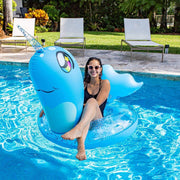 PoolCandy Jumbo Animal Pool Raft, Narwhal - PoolCandy