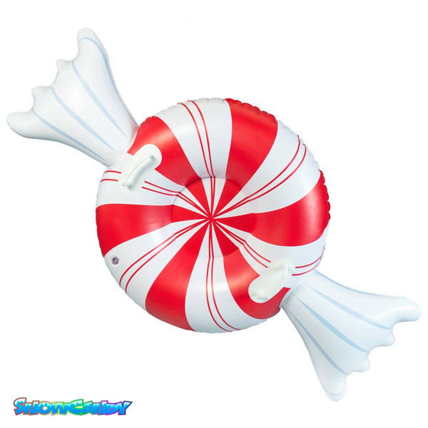"SNOWCANDY Snow Tube 42"" Peppermint Candy - PoolCandy"