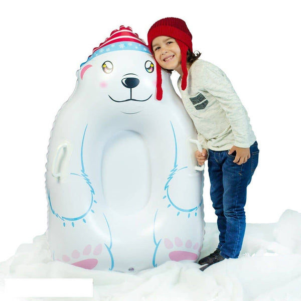 SNOWCANDY Polar Bear Inflatable Snow Sled - PoolCandy