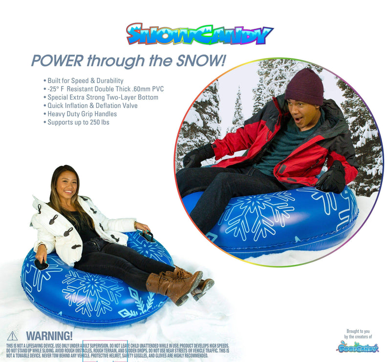 "SNOWCANDY Snow Tube 48"" Blue Pro Snow Tube Edition - PoolCandy"