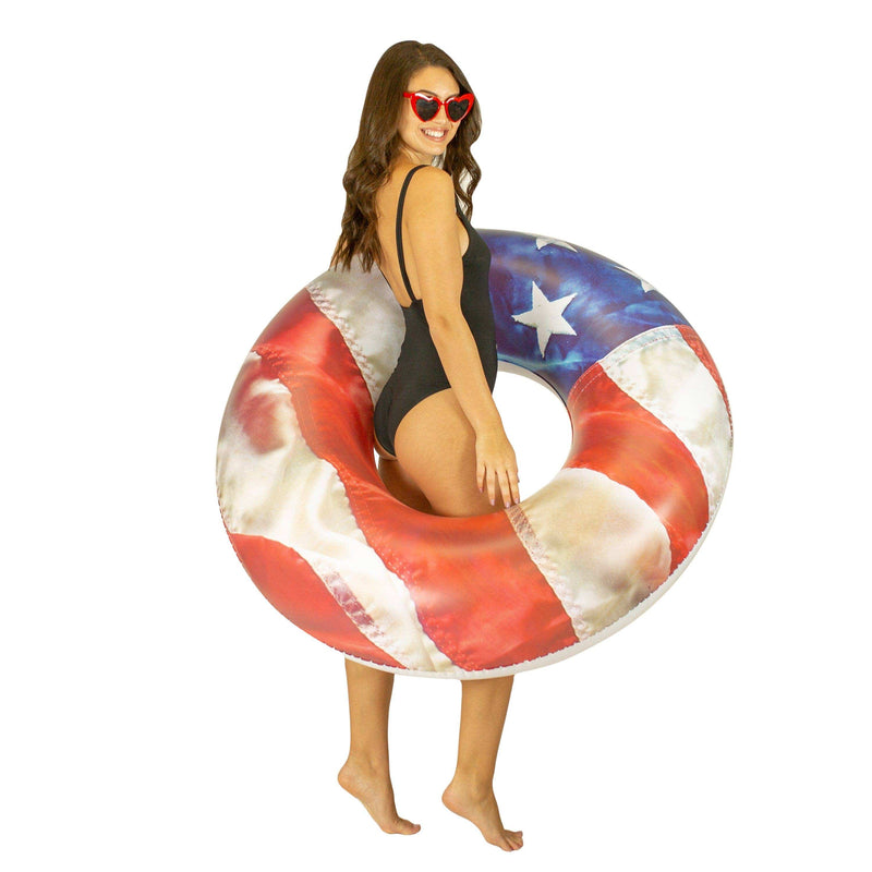 "Stars & Stripes 48"" Jumbo Beach & Pool Tube - PoolCandy"