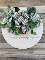 Our Happy Place Wall Decor Farmhouse Style - Farmhouse Florals