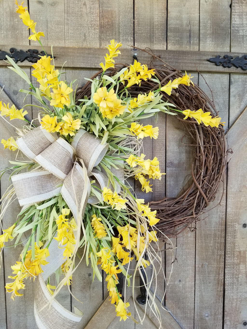 Best Seller Yellow Wild Flower Front Door Wreath