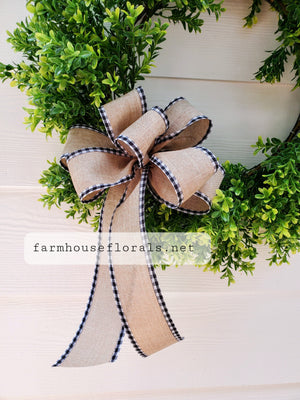 "2 1/2"" Gingham Edge Bow"