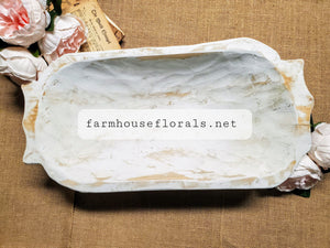 White Farmhouse Dough Bowl
