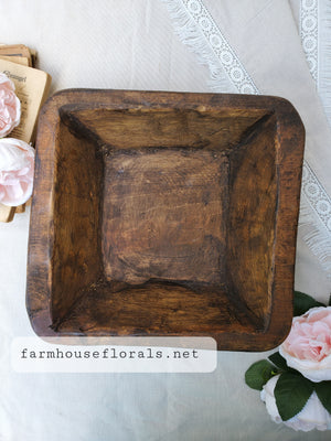 Square Farmhouse style Dough Bowl