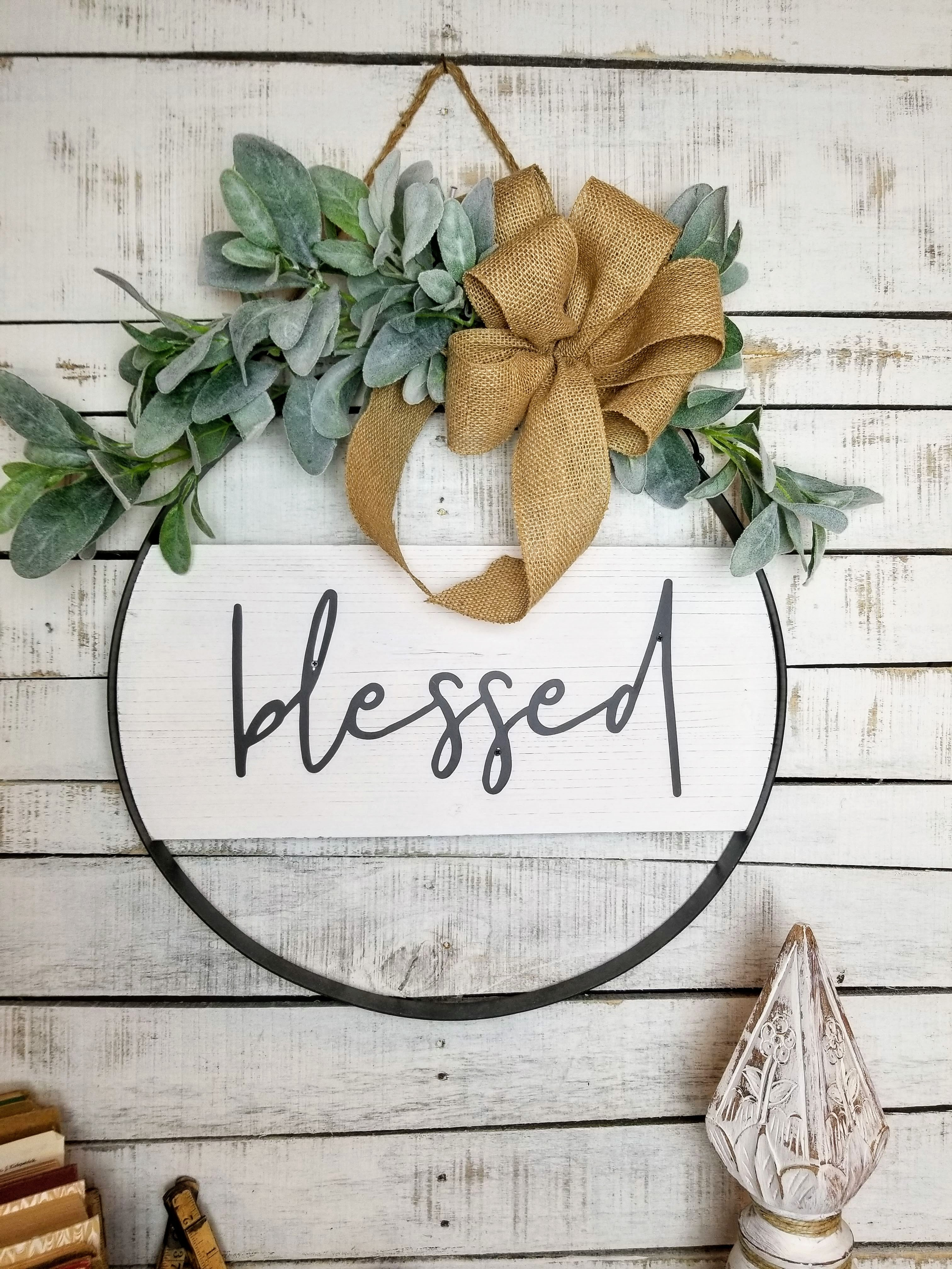 Lambs Ear Blessed Wall Decor
