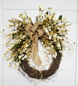 Gorgeous Fall Front Door Wreath