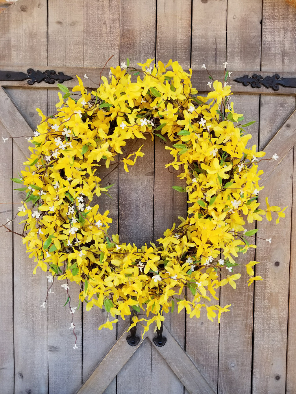 Forsythia Front Door Wreath  - Farmhouse Florals