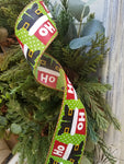 Santa boots wired edge Christmas ribbon 2-1/2 inch 25 YARDS Ribbon and Bows - Farmhouse Florals
