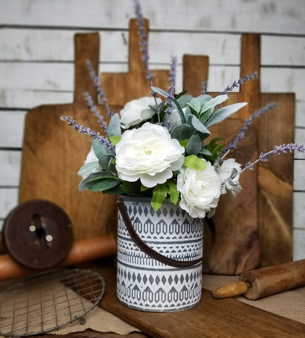 Farmhouse Style Floral Arrangement
