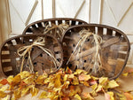 Set of 3 Farmhouse Style Woven Tobacco Baskets Home decor - Farmhouse Florals