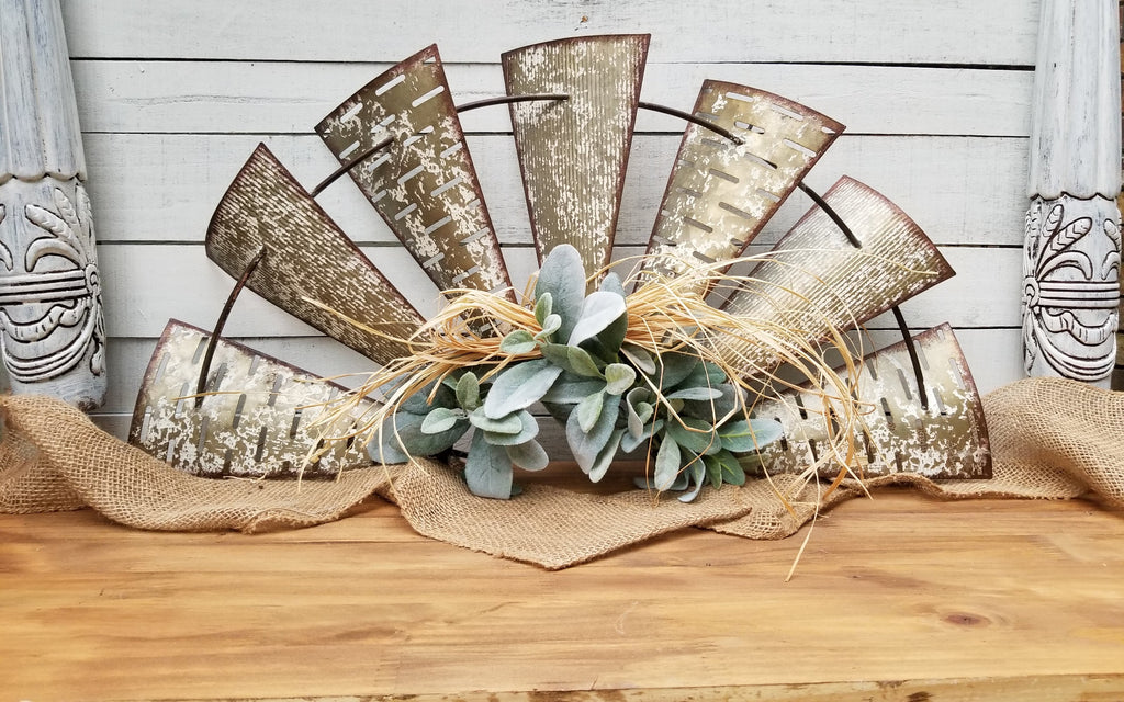Windmill Lambs Ear Farmhouse Style Wall Decor Farmhouse Style - Farmhouse Florals