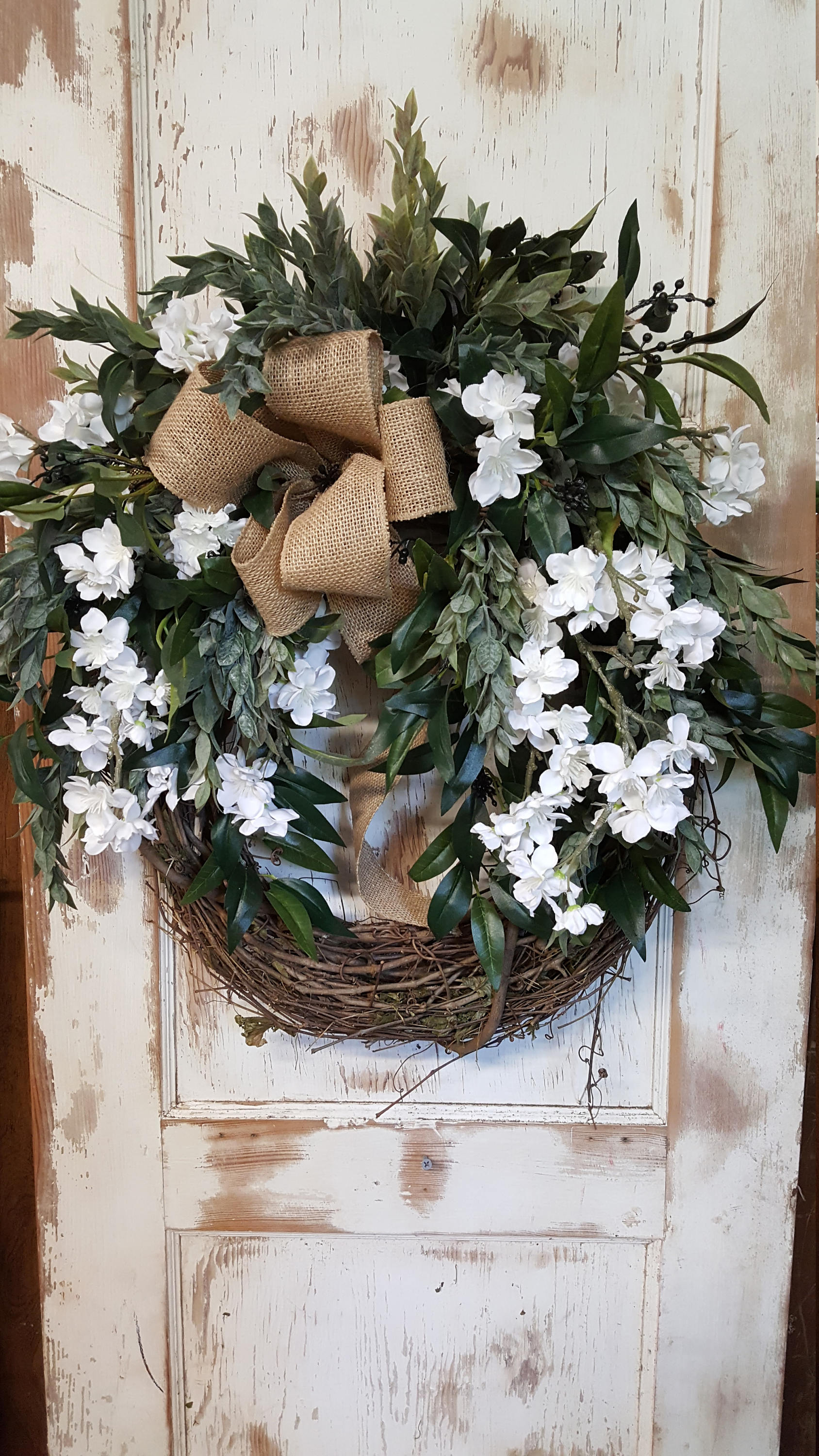 Everyday Front Door Wreath Everyday Wreath - Farmhouse Florals