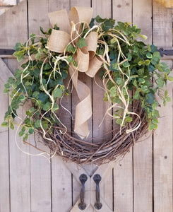 Ivy Everyday Front Door Wreath  - Farmhouse Florals