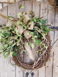 "26"" Ivy / Light Green Eva Tea Leaf Front Door Wreath  - Farmhouse Florals"