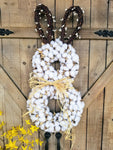 Limited Supply Cotton Easter Bunny Door Hanger Easter - Farmhouse Florals