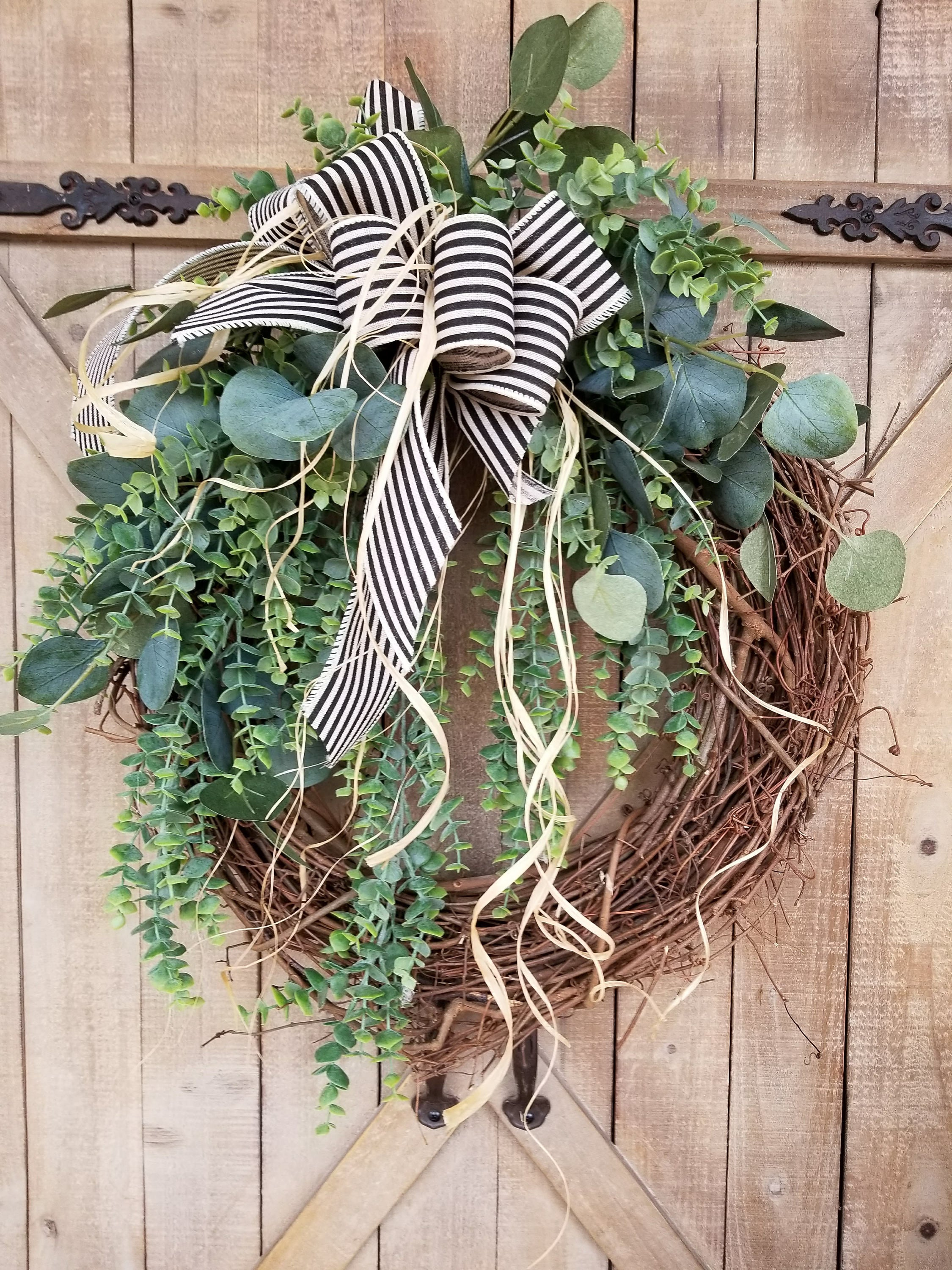 Farmhouse Eucalyptus Wreath Everyday Wreath - Farmhouse Florals