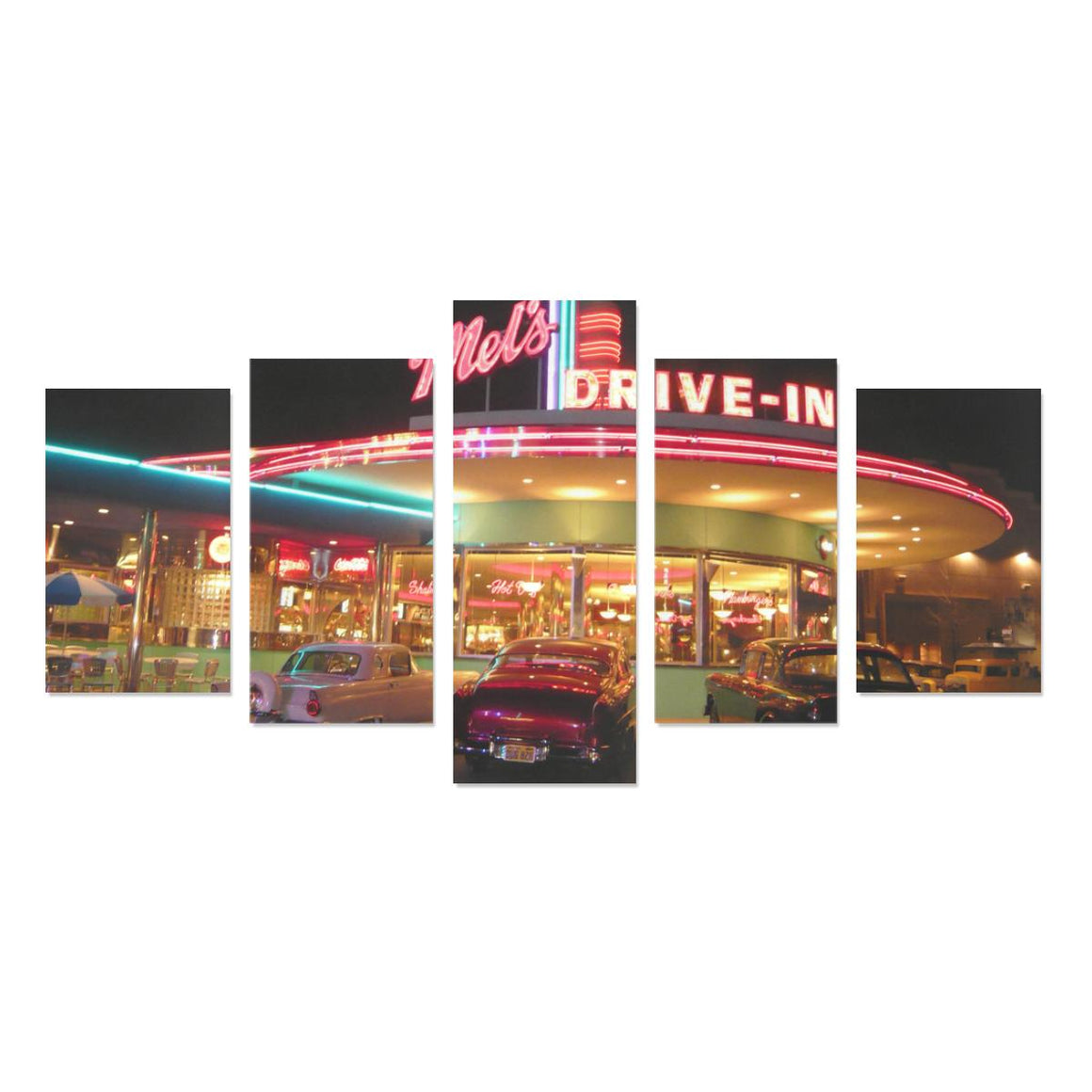 Mels Drive In Canvas Print Sets (No Frame)