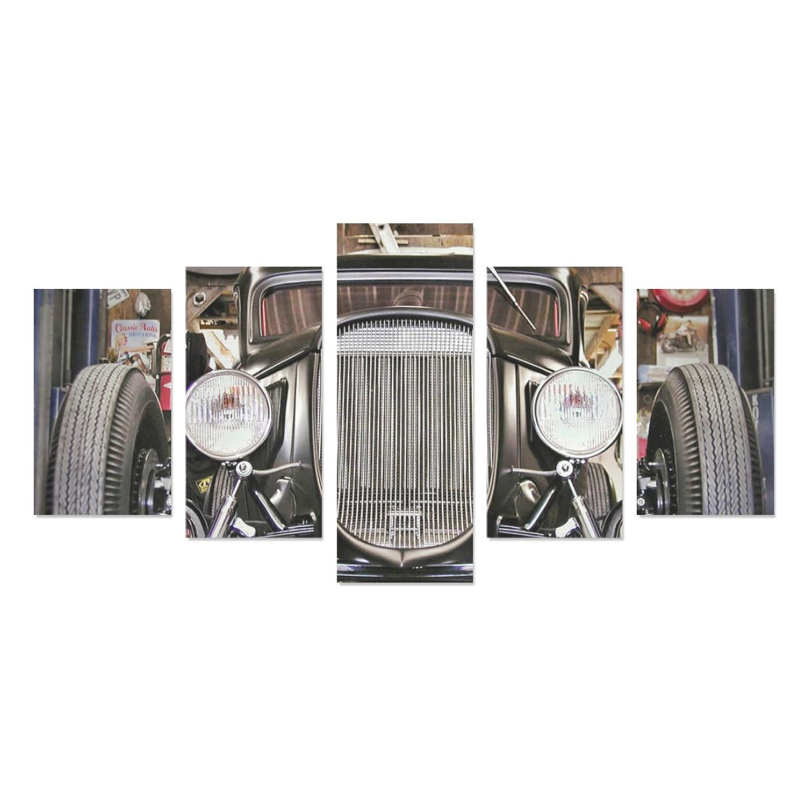 Hot Rod Front End Canvas Print Sets  (No Frame)