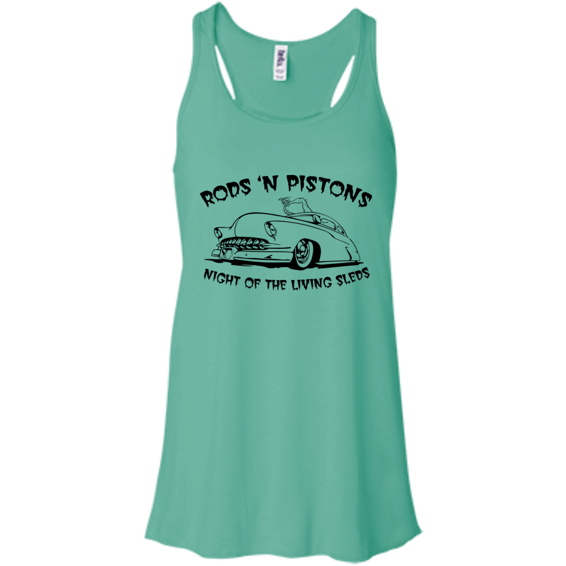 Night of the living Sled Bella+Canvas Flowy Racerback Tank