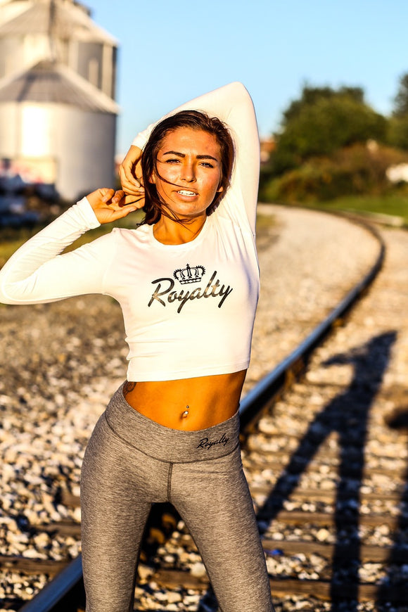 Long sleeve crop top - Royalty Raiments Royalty Raiments