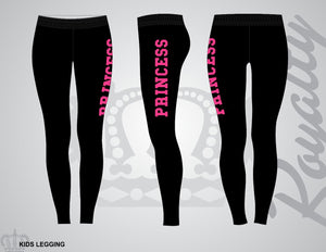 Girls Princess leggings - Royalty Raiments Royalty Raiments