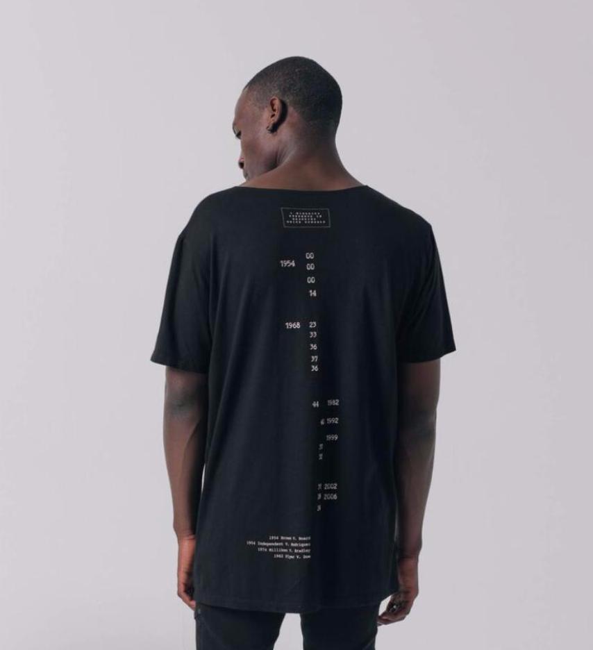 Brown v. Board longline streetwear tee back