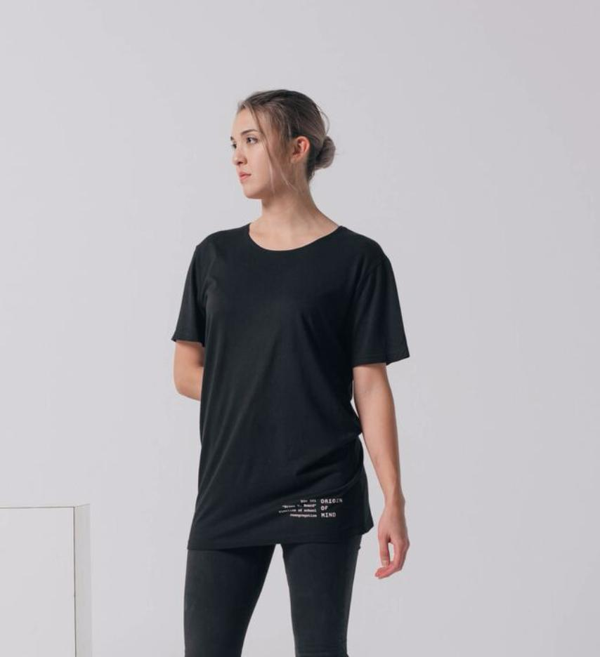 Brown v. Board longline streetwear tee women's fit front
