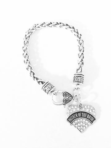 Crystal Mother Of The Bride Wedding Gift Charm Bracelet