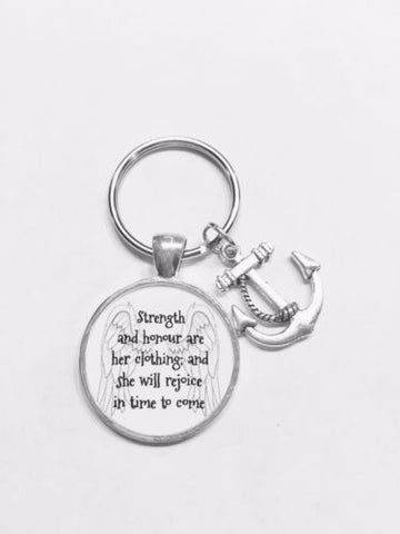 Anchor Proverbs 31 Strength And Honour Are Her Clothing Gift Keychain